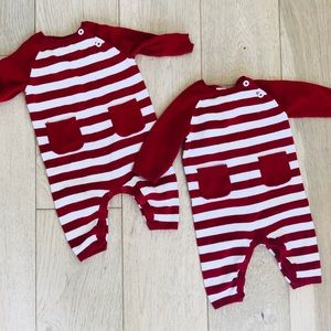 Twin knit rompers